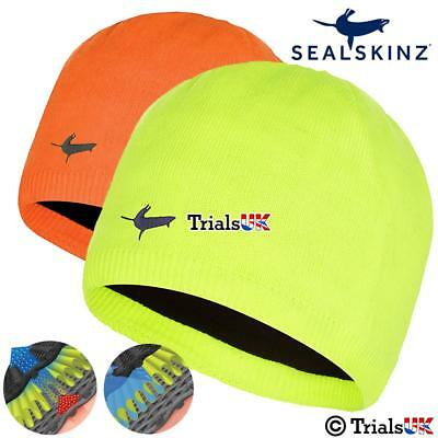 SealSkinz Waterproof Windproof Breathable HiVis Beanie-Outdoor-Walking
