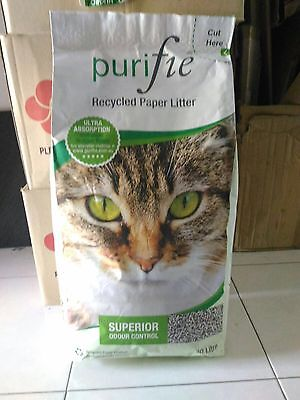 Purifie Paper Cat Litter, Best Paper Litter, Super Absorbent ,Chemical Free 30L