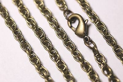Wholesale 11 and 22 Piece Lots Antique Bronze Rope Chains Necklace Lot