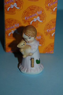 Enesco Growing up Girls age 1 #1 1st BRUNETTE Figurine NEW MIB