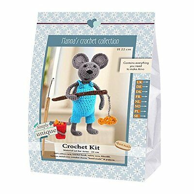 Go Handmade Arno The Mouse 22cm Crochet Needlework Complete Kit!