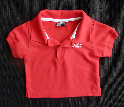 Baby clothes BOY GIRL 3-6m UMBRO bright red/white polo-shirt football SEE SHOP!