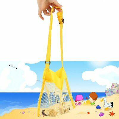 Portable Kids Sand Away Mesh Beach Bag Shell Collection Sandpit Toys Storage