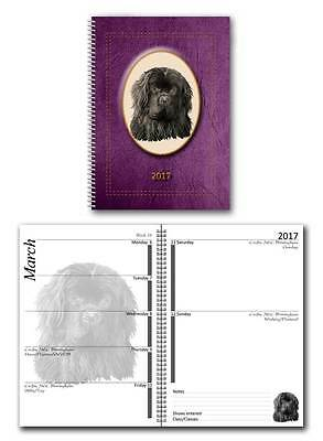 Newfoundland 2017 Large Dog Show Diary with Show Dates in a choice of 7 colours