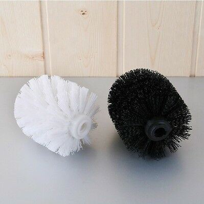 New White Black Toilet Brush Head Holder Replacement Bathroom Accessory Spare