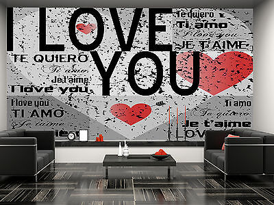 I Love You Wall Mural Photo Wallpaper GIANT DECOR Paper Poster Free Paste