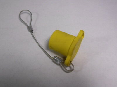 Leviton 16P22-Y Protective Cap Female for 16-Series Connector Yellow  USED