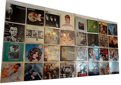 "Display 32 x 12"" inch Vinyl Record LP Albums in Wall Hanging Sleeves Pockets"