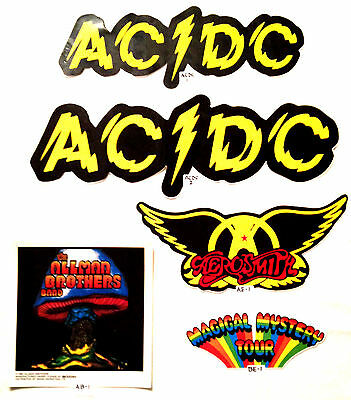 Rock and roll band window bumper stickers a i