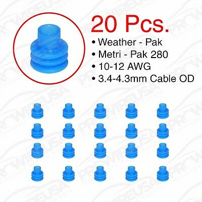 Weather Pack Metri-Pack 280 Series Blue Seal 12-10 AWG 20 PCS 15324981