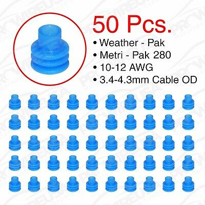 Weather Pack Metri-Pack 280 Series Blue Seal 12-10 AWG 50 PCS 15324981