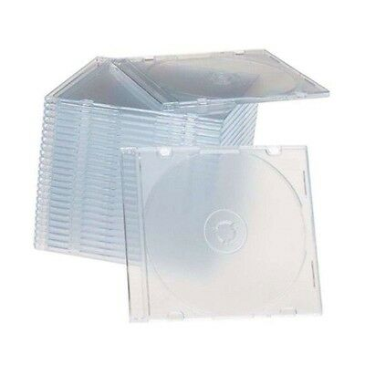 100 New single Slim Clear CD/DVD/VCD Jewel Cases Storage Boxes 5.2mm