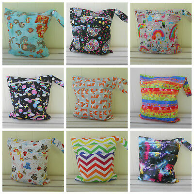 Small Double Zip Wet Bag for Reusable Nappies / Cloth Pads / Breast Pads