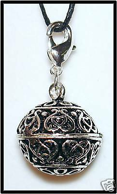 PENDANT - Pewter PRAYER (WISH) BOX Locket w/ Description Card - Ornate Design