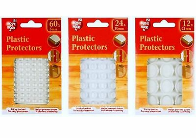 Plastic Protectors/dots Pads Self Adhesive Cabinet Buffers Drawer Cupboard Door