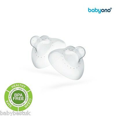 Breastfeeding Nursing Nipple Shields Protectors Baby Ono extra soft size S or M