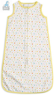 Snugtime Unlined Super Soft Cotton muslin 0.2 Tog Sleeveless Cosi Aqua Star