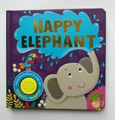 New Happy Elephant Sound Book Ages 0 Month+ Babies Birthday Gift Board Book