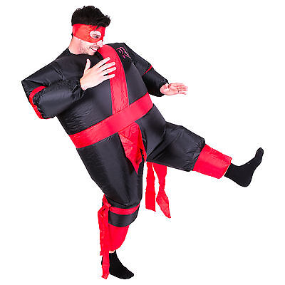 Inflatable Ninja Adult Fancy Dress Costume Fat Warrior Hen Stag Night Outfit  sc 1 st  PicClick & INFLATABLE NINJA ADULT Fancy Dress Costume Fat Warrior Hen Stag ...