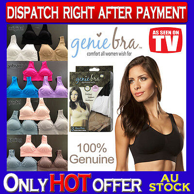 Genuine Genie Bra Set of 3 Comfort Support Seamless Shapewear Size S