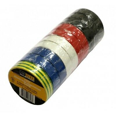 10 Rolls - Rainbow Electrical Insulation Tape