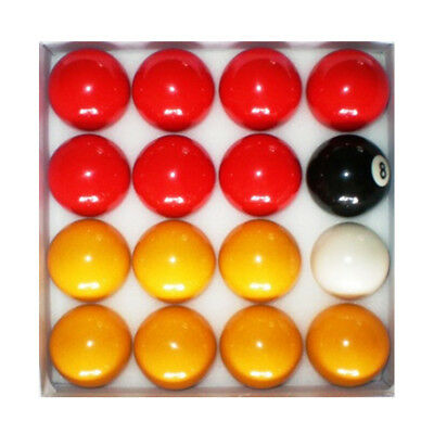 Red and Yellow 2 Inch Pool Ball Set - Full Size Pool Balls, New Free Delivery