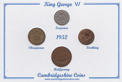 1952 Vintage Coin Set 65th Birthday Birth Year Present Wedding Anniversary Gift