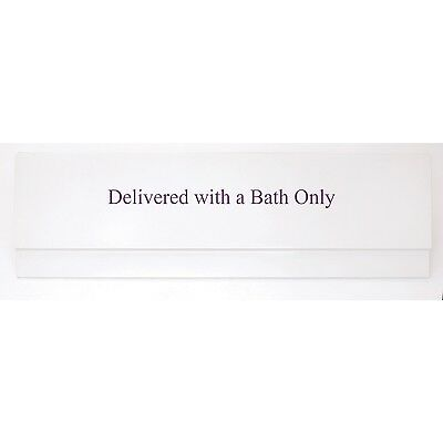 Contemporary Straight Bath 1500 mm White Acrylic Side Panel