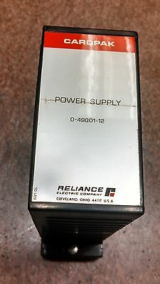 Reliance Electric Cardpak Power Supply, P/N 0-49001-12, 115 VAC (B6-Box)