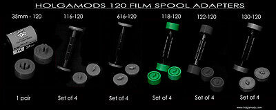 118 to 120 film spool adapters for your Antique Kodak Autographic Folding Camera