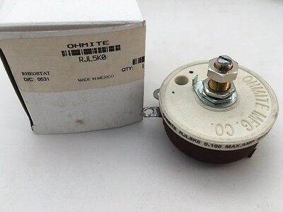 RJL5K0 Ohmite, 50 Watt 5K Ohm 750V, Locking Shaft, Linear Rheostat