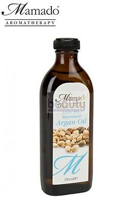 Mamado Pure Organic Moroccan Argan Oil Miracle Oil for Body and Face Skin 150ml