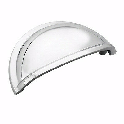 Cabinet Hardware Polished Chrome Cup Pulls - #5310-26