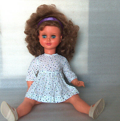 Vintage Beautiful Aradeanca Plastic And Rubber Doll, Romania