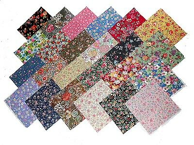 "48 4"" Quilting Fabric Sqs/Beautiful Among the Flowers Charm Pack-NO DUPES-NEW"