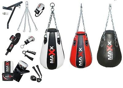 NEW Heavy Maize bag Pear Shape Punch Bag Bracket Hook Gloves Mma  CHAIN