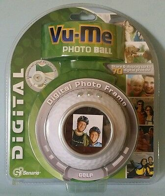 Vu-me digital photo frame golf ball store display 70 photos white New