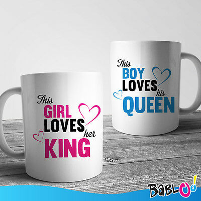 Coppia Di Tazze You And Me This Girl Loves Her King This Boy Loves His Queen