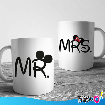 """Coppia Di Tazze Love You And Me """"Mr and Mrs Mouse"""""""