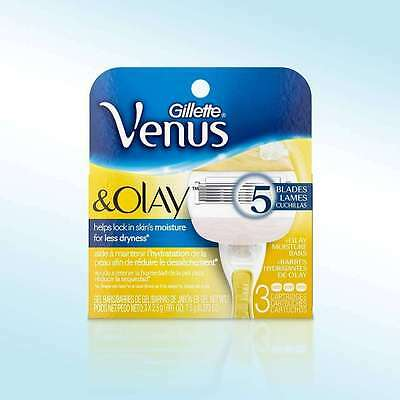 Gillette Venus & Olay Razor Blades - 3 Cartridges (Scent May Vary)