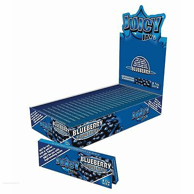 1 Box - 24 Packs - JUICY JAY'S 1 1/4 Rolling Papers Blueberry - 7944