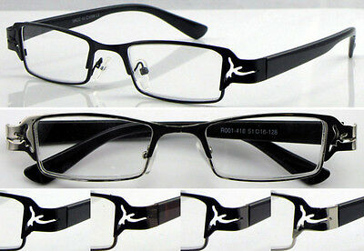 L418 Mens Metal Frame Reading Glasses/Cut-out Style/Super Fashion&Elegant Design