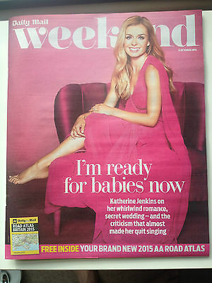 Katherine Jenkins Uk Weekend Photo Cover 2014 Magazine Chris Gascoyne Lily James