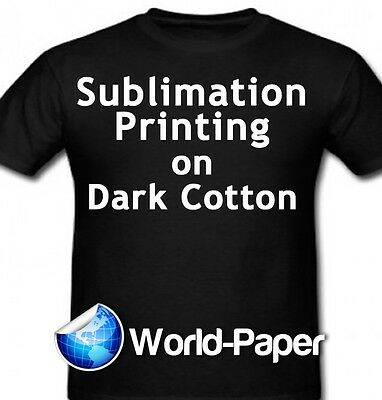 "Sublimation Printing for Dark Cotton Fabric - 8.5""x11"" - 50 sheets  :)"