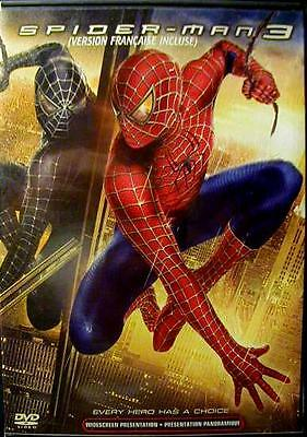 Spider-Man: 3 DVD (English and French)  Like New!