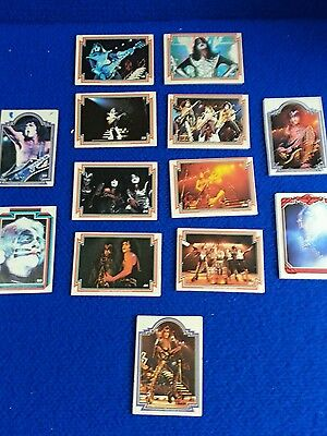 Junk drawer lot #4 of vintage series 1 kiss cards from 78 , 13 cards
