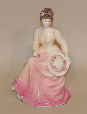1990 Coalport England John Bromley Ladies of Fashion Figurine Lady in Lace Pink