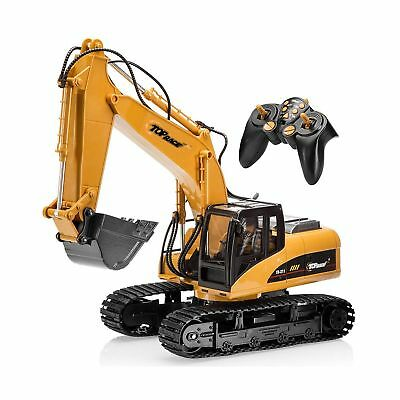Top Race 15 Channel Full Functional Remote Control Excavator Construction Tra...