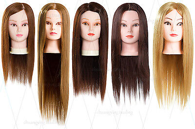 Real Natural Hair Cosmetology Training Head Mannequin Cosmetology School Student