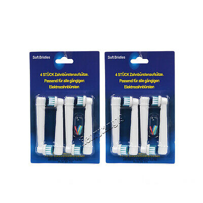 4pcs Tooth brush Heads Replacement Fit for Braun Oral-B Cross Action